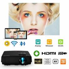 LED Android WIFI Projector Mobile Home Cinema Beamer Bluetooth Support Full HD Video Movie