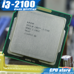 Free Shipping  Intel Core I3 2100 3M Cache 3.1 GHz  L3=3M LGA 1155 TDP 65W desktop CPU i3-2100 processor (working 100%)