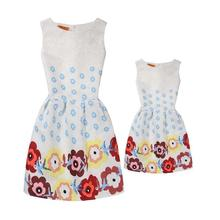 Summer Mom and Daughter Floral Dresses Matching Outfit