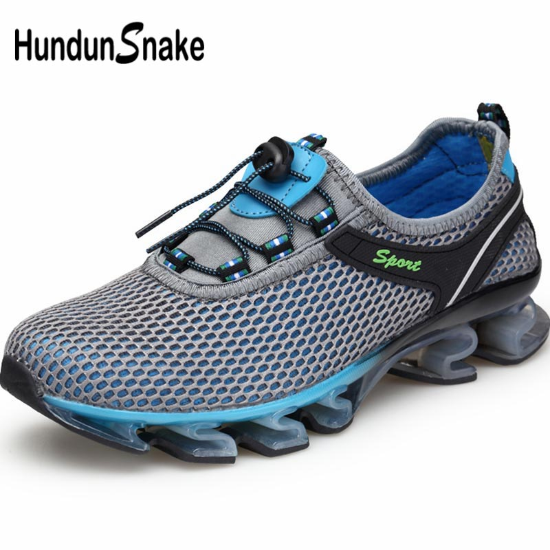 Hundunsnake Outdoor Sports Sneakers Man Sport Shoes Men's Running Shoes Male Shoe Tennis Summer Chaussure Homme Gray Train B-038