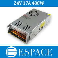 Best quality 24V 17A 400W Switching Power Supply Driver for LED Strip AC 100 240V Input to DC 24V free shipping