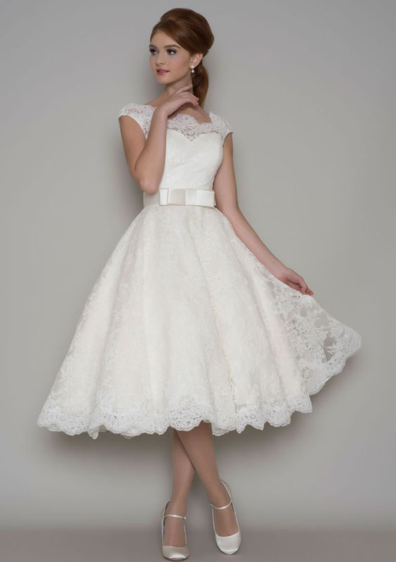 Robe De Mariee Short Wedding Dresses For Dance Elegant Lace