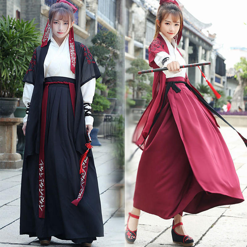 Chinese Folk Dance Clothes Hanfu for Women National Costume Fairy Dress Tang Dynasty Ancient Costumes for