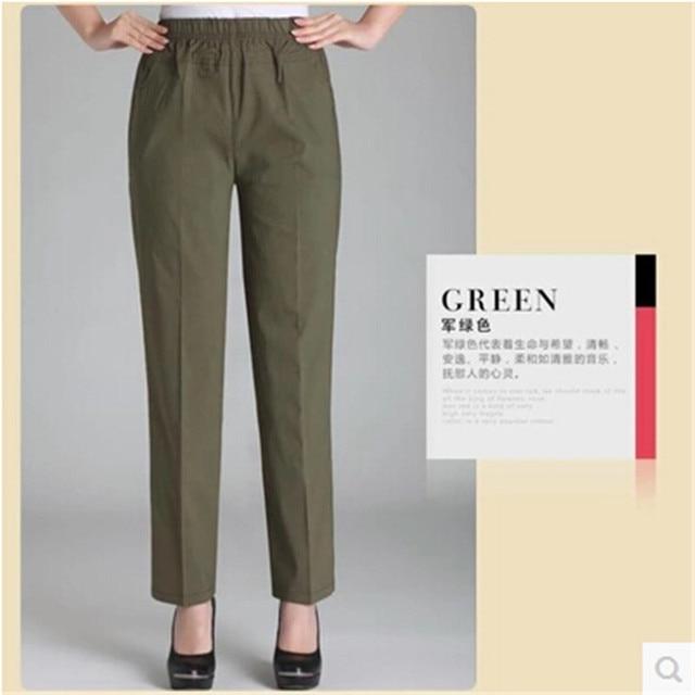 7b4e2a1bc2c08 Pants Women Summer Casual pants High waist Straight leg pants Big yards 4XL Thin  Stretch Loose Elastic waist Fashion BN656