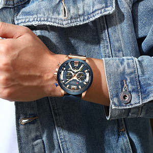 Image 5 - Relógios de moda masculina relógio de luxo marca curren esportes relógio de pulso casual quartzo relógio de negócios homem à prova dwaterproof água 30 m reloj