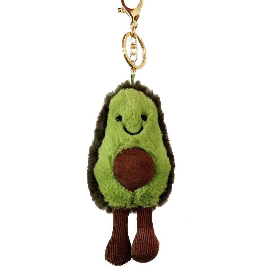 Stuffed Toy Avocado Plush Toy Cartoon Fruits Soft  Mini Kawaii Plush Keychain Doll Toys For Girls Boys Doll Pendant  Toys