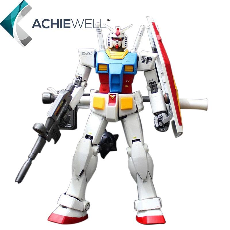 все цены на  Brand GG MG 1/100  RX-78-2 Original Gundam Action Figure VER2.0 Movable Finger Assembly Robot For Fan Collection Gift Shield Toy  онлайн