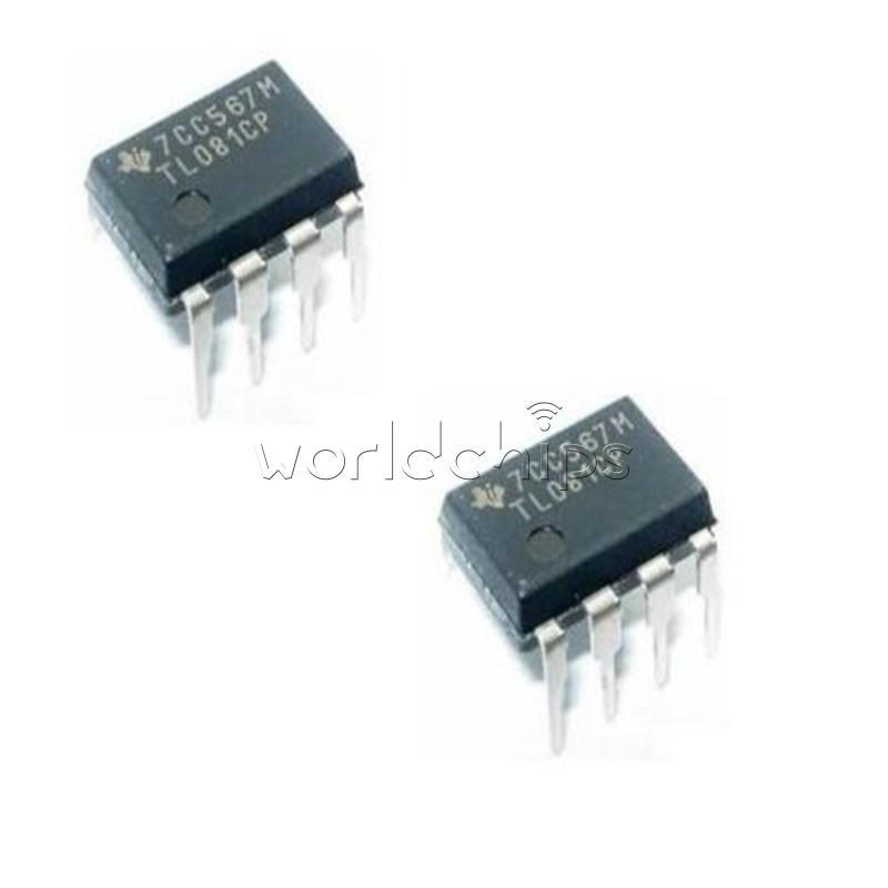 50pcs TL081 TL081CP TI IC JFET Input Operational Amplifiers DIP-8 NEW
