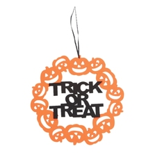 Happy Halloween Pendant Props Pumpkin Hanging Sign Home Party Decor Craft Supply