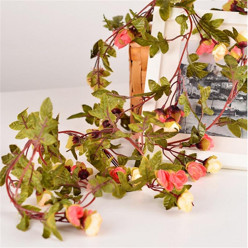220 εκατοστά Fake Τριαντάφυλλα μετάξι Ivy - Προϊόντα για τις διακοπές και τα κόμματα - Φωτογραφία 5