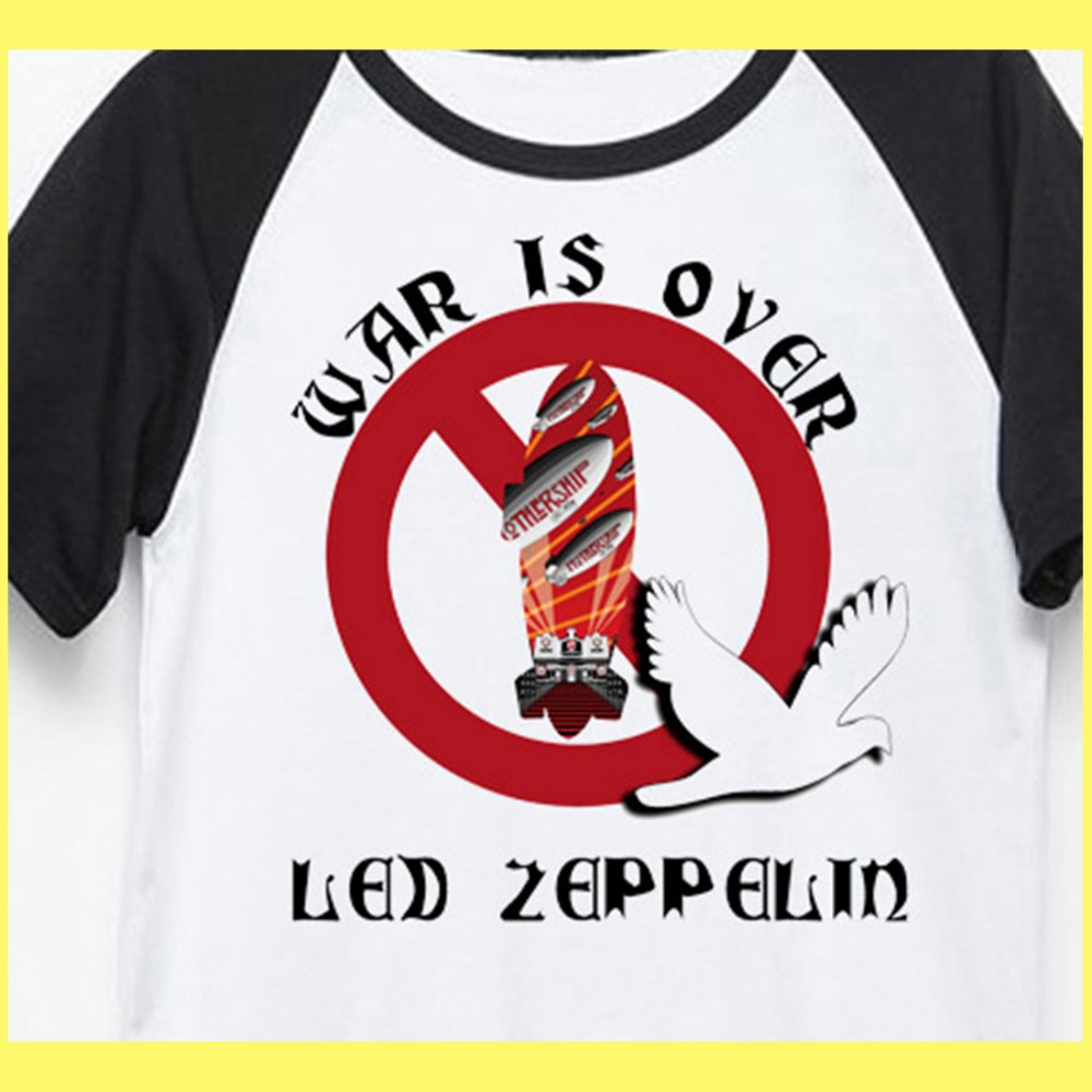 c82baea3 Led Zeppelin war is over old fashion psychedelic rock t shirt men women  size-in T-Shirts from Men's Clothing & Accessories