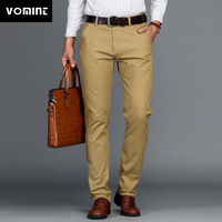 VOMINT pants men new 2018 Mens Casual Pants Stretch male trousers man long Straight Black Blue Khaki plus size pant suit pants