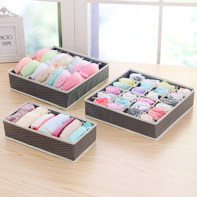 boxes:  5 Colors Home Storage Container Nonwoven Boxes Drawer Divider Lidded Closet Box For Ties Socks Bra Underwear Organizer - Martin's & Co