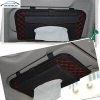 1PCS Black Leather Car Seat Console Gap Filler Pocket Leather Organizer Auto Storage Bag Car Seat