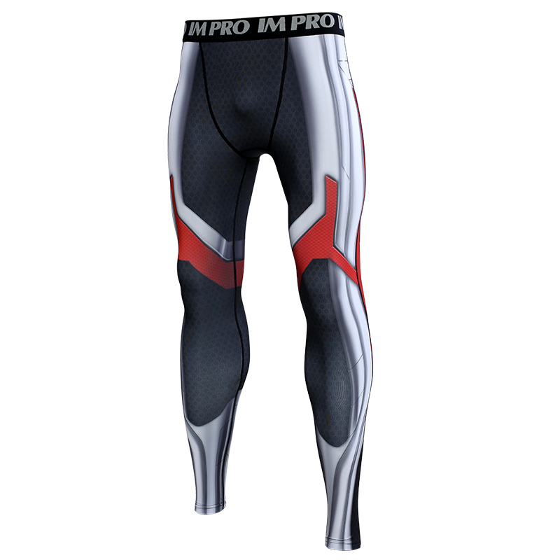 Trousers Male Leggings Compression-Tights-Pants Avengers Skinny Printed-Pattern War 3D