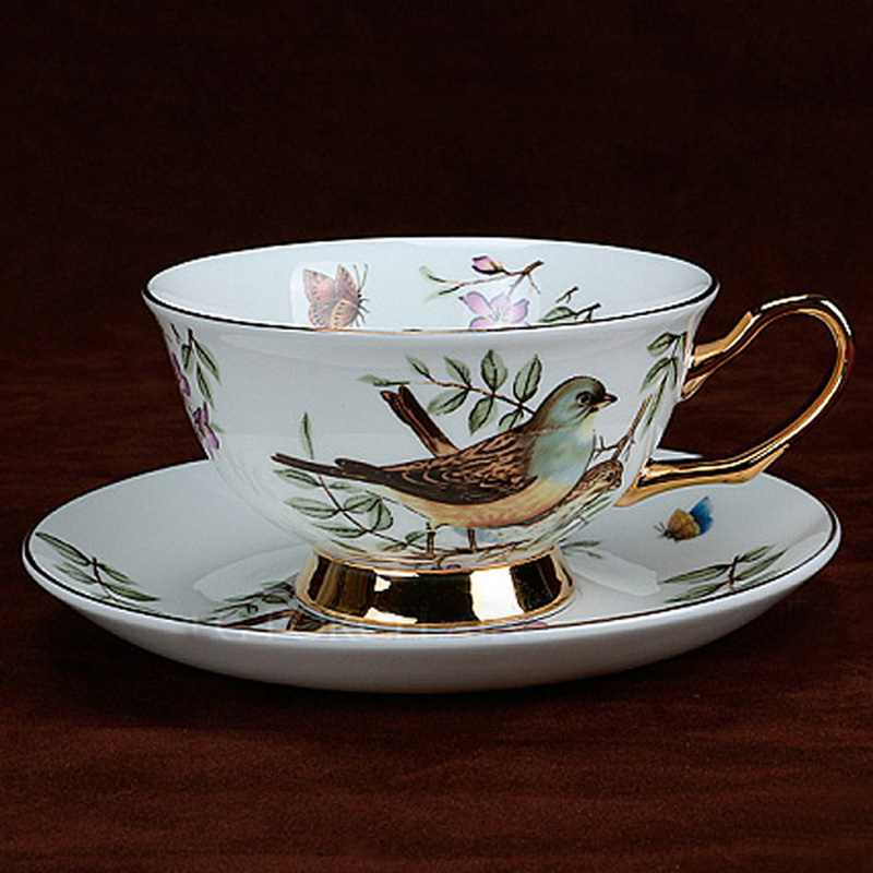 New 2016 Ceramic Coffee Cup With Matching Spoon Top Quality Bone China Cups And Saucers