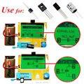 СОЭ LCR/Диод/Триод/Емкость/Индуктивность/Резистора Метр NPN/PNP Транзистор Тестер ЖК Назад света и Автоматического отключения