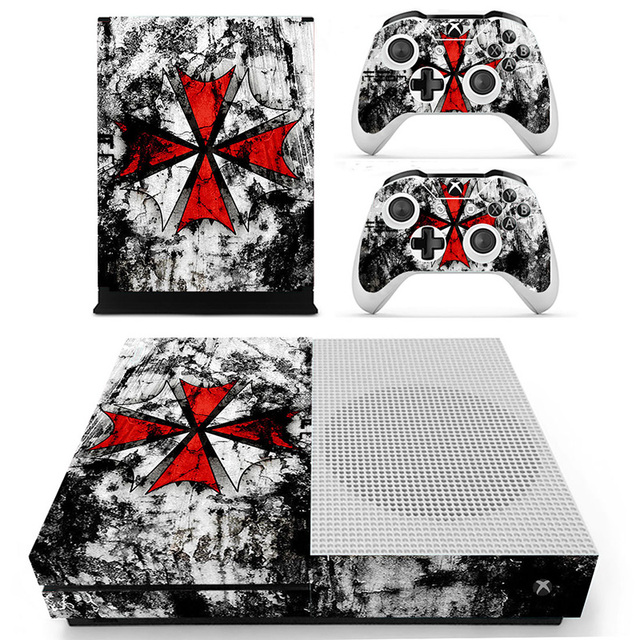 Homereally for xbox one s skin resident evil umbrella logo custom hd pvc sticker cover for