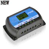 PWM Solar Charge Controller USB 20A LCD Fully 4-Stage PWM Charge Management for Max 50V 480W Solar Panel RTD-20A NEW Regulator