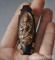 christmas old tibet buddhism agate Dzi Bead tara Kwan Yin Guan Yin amulet Pendant statue halloween