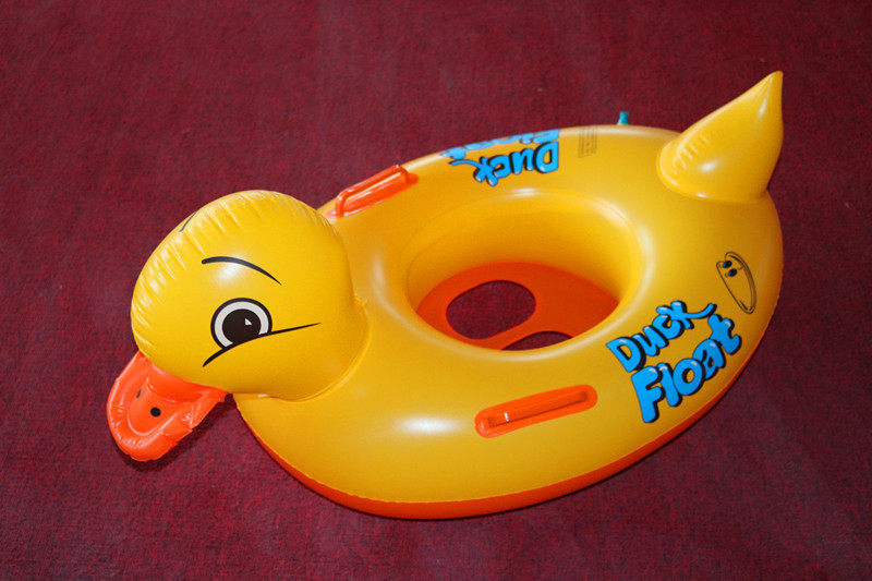 Inflatable Ride-ons Duck Water Toy Pool Rafts For Children Swim Leanring Tool Floating Kids Swimming Pool Rafts Rings