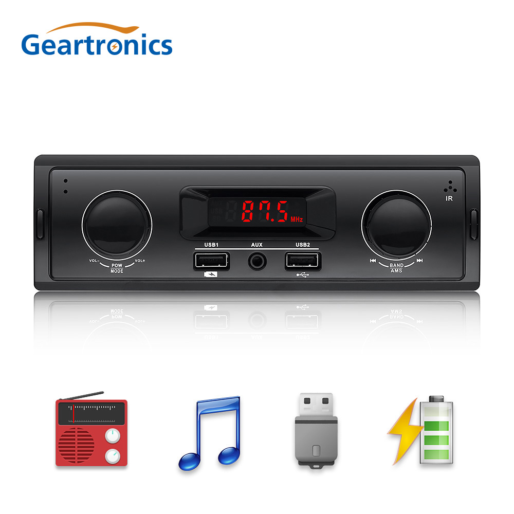 1 Din Car Radio Auto Audio Stereo 12V Support FM Aux In Receiver USB MP3 Radio Player No Bluetooth No Remote Control