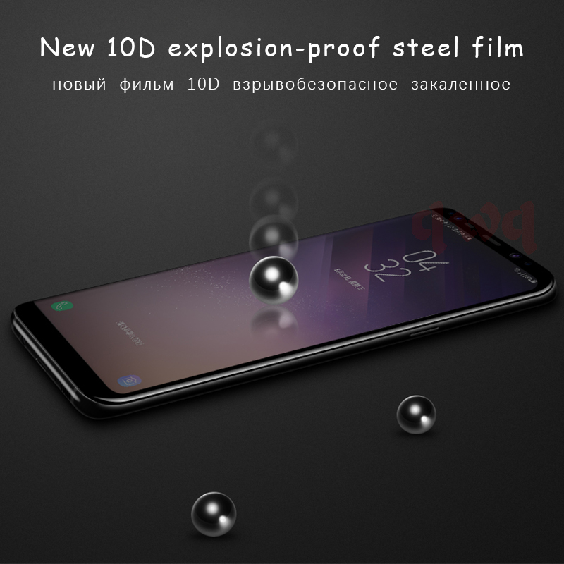 Tempered Glass Film For Samsung Galaxy Note 8 9 S9 S8 Plus S7 Edge 10D Full Cover Screen Protector For Galaxy A7 A6 A8 Plus 2018 in Phone Screen Protectors from Cellphones Telecommunications