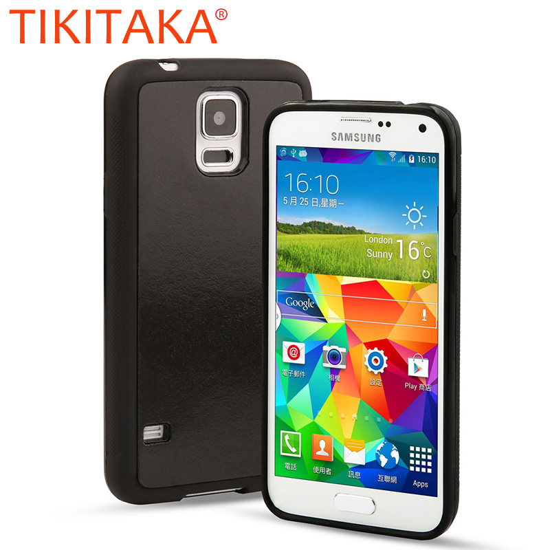 TIKITAKA Magical Antigravity Case For Samsung Galaxy S4 S5 i9600 i9500 Anti Gravity Nano Suction Cover Adsorption Phone Shell