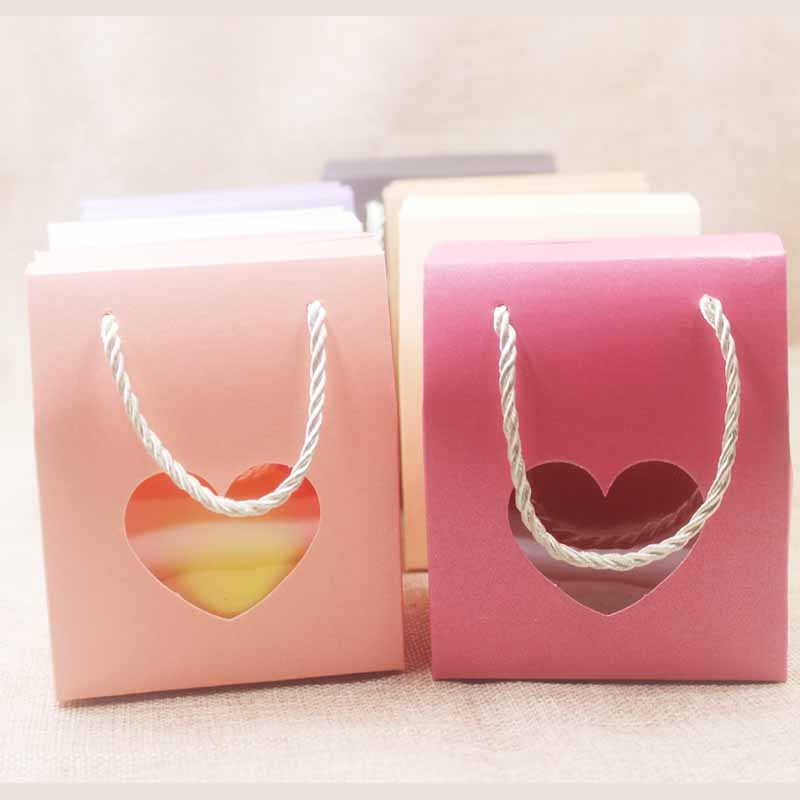 Image 5 - Feiluan 50pcs blank paper handle gift box with heart /retangular 