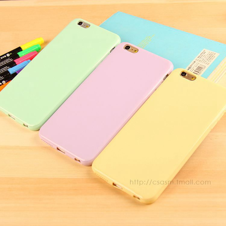 Silicone Phone Case for iPhone Cute Sweet Solid Candy Color TPU Rubber Case for iPhone 5 5S SE 6</font