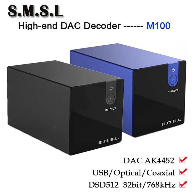 Herzhaft Smsl M100 Reinem Digital Dac Audio Verstärker Decoder Ak4452 Hifi Dsd512 Usb Dac Amp Optische Koaxial Eingang 32bit/768 Khz Weniger Teuer Unterhaltungselektronik Tragbares Audio & Video