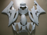 Injection Molded 100 Fairing Kit For Yamaha YZF R6 06 07 White Fairings Set YZFR6 2006