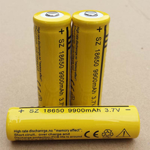 DING LI SHI JIA 4 шт. 18650 Батарея перезаряжаемые батарея 3,7 в 9900 мАч литий-ионный батарея для светодиодный фонарик аккумуляторные батареи