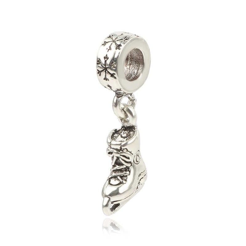Fit bransoletka pandora naszyjnik DIY kobiety biżuteria nowy oryginalny srebrny koralik arbuz bagaż motocyklowy wisiorek z misiem urok