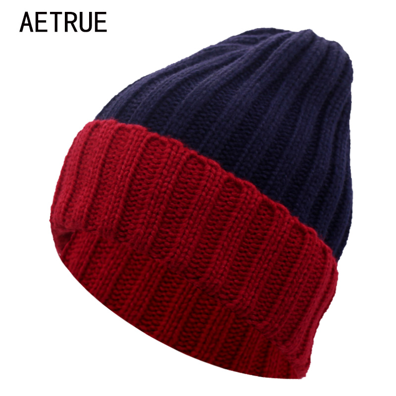 AETRUE Beanie Women Knitted Hat Winter Hats For Women Men Fashion Skullies Beanies Bonnet Thicken Warm Mask Soft Knit Caps Hats brand winter beanies men knitted hat winter hats for men warm bonnet skullies caps skull mask wool gorros beanie 2017