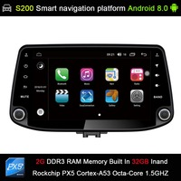 Android 8.0 system PX5 Octa 8 Core CPU 2G Ram 32GB Rom Car DVD Radio GPS Navigation for Hyundai I30 2017 2018 (NO DVD Function)