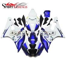 Hot Vendas de Injeção Carenagens Para Yamaha YZF-R6 06 07 YZF 600 R6 2006 2007 ABS Da Motocicleta Carenagem Kit Carenagens 46 Azul Branco nova
