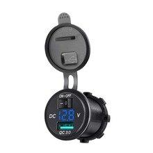 12 В QC3.0 Быстрая Двойная зарядка USB автомобильный прикуриватель разветвитель зарядное устройство адаптер гнездо для автомобиля Грузовик Мотоцикл
