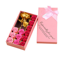 24K Foil Plated Rose Artificial Flowers Wedding Decoration Gold Rose Mother's Day Gift Valentine's Day Gift With Box Christmas