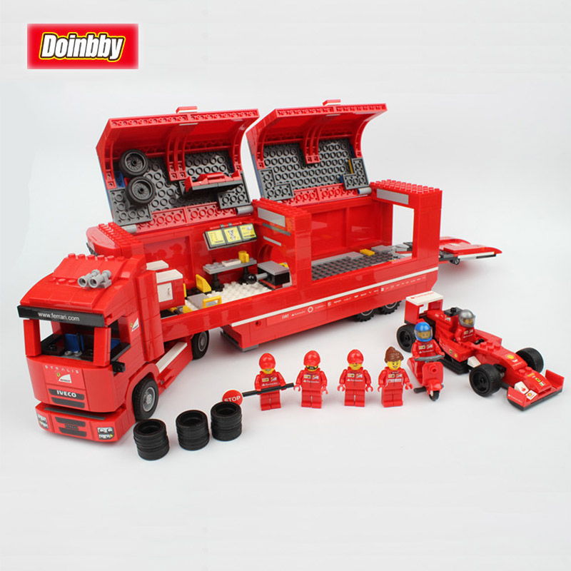 Lepin 21010 Technic Super Racing Sport Car F1 The Red Truck Model Building Block Bricks Toys Kid Gifts Compatible Legoings 75913 lepin 21010 technic super racing car series the red truck set children educational toys building blocks bricks compatible 75913