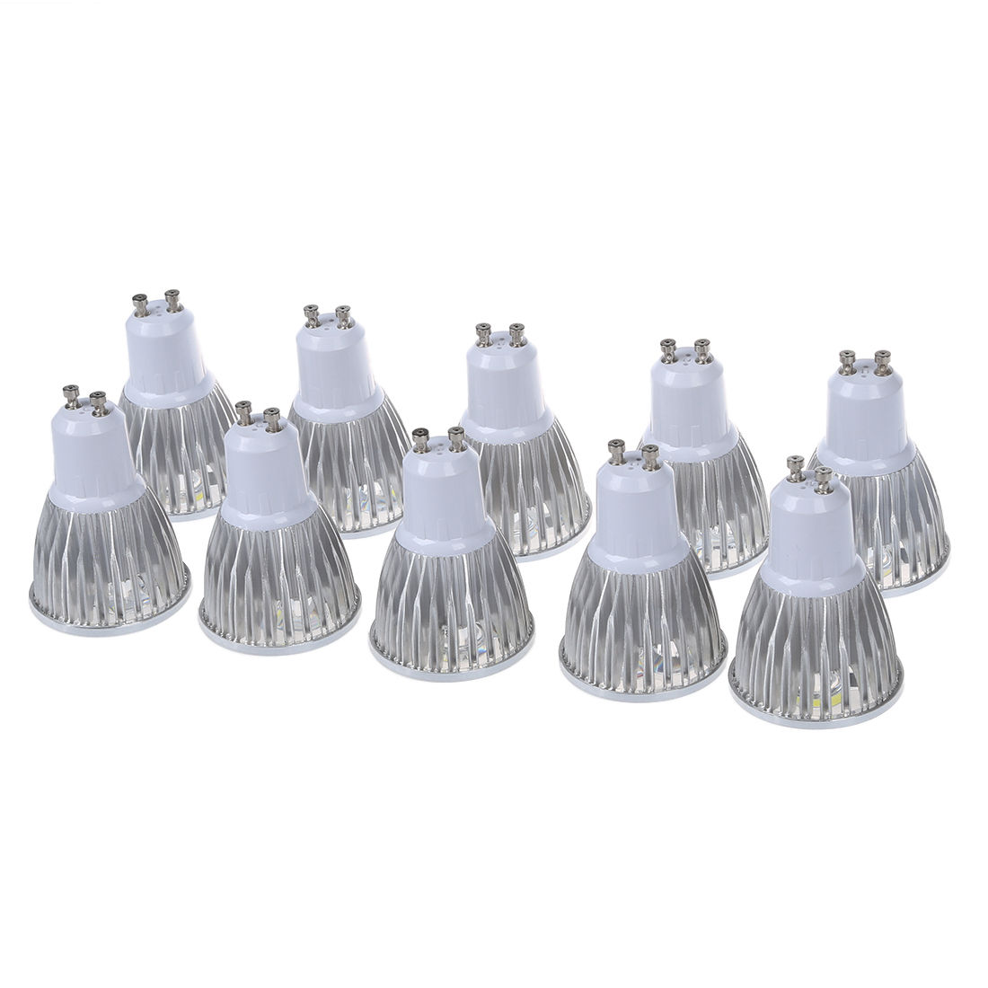 10 x 5W GU10 5 LED GU10 LED Bulb LED Light Bulb Cold White LED 450-Lumen AC95-240V