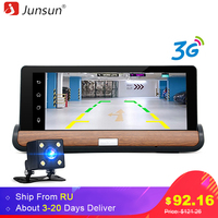 JunSun 3G Car DVRs Dash Cam Registrar Rear View Android 5 0 Bluetooth Dual Lens Video