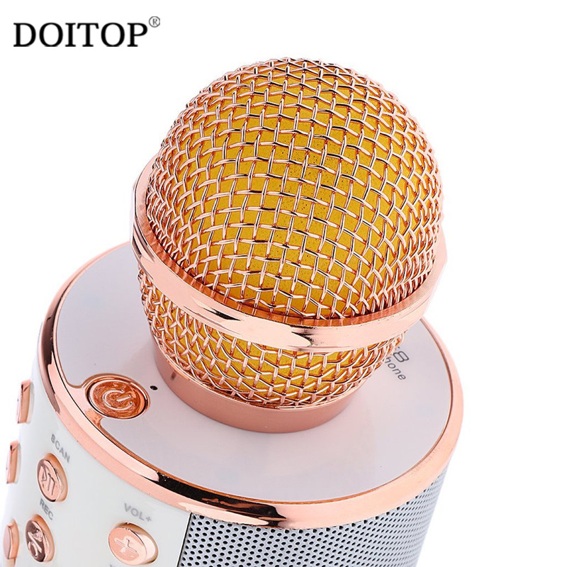 DOITOP Fashion Wireless Bluetooth Condenser Magic Karaoke Microfone Handheld microphone Mobile Phone Microphone KTV Sing Mic C4