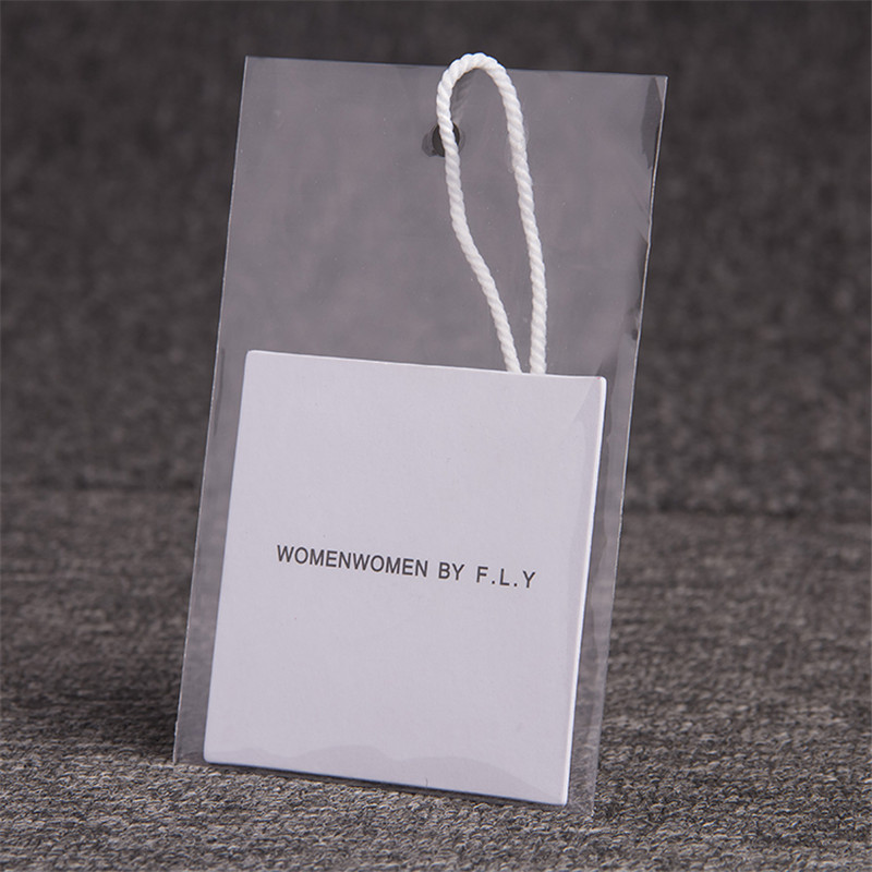 Customized High-Grade Thick Special 700G White Paper Tag Hang Clothing