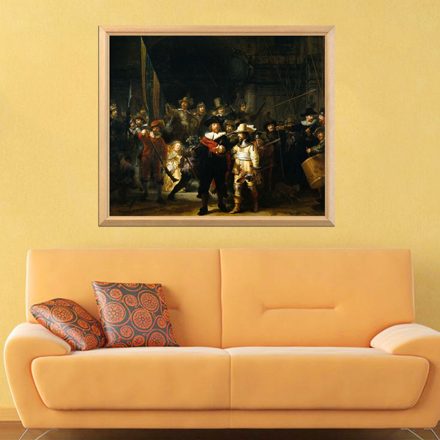 Rembrandt Famous Painting The Night Watch 5D DIY Diamond Painting Full Square Round Diamond Embroidery Sale