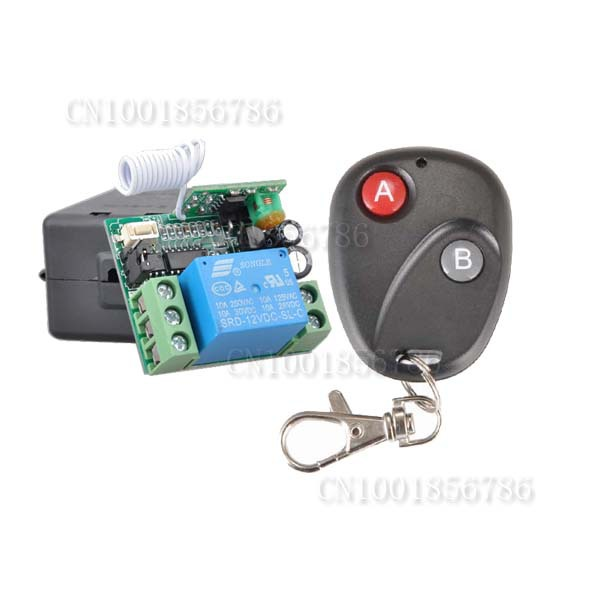 DC 12V 1 CH RF Wireless Remote Control Switch System,315/433 MHZ Receiver And Transmitter (not include battery)) dc 12v 1 ch switch 1ch rf wireless remote control switch system 315 433 mhz 2 transmitter and 1 receiver
