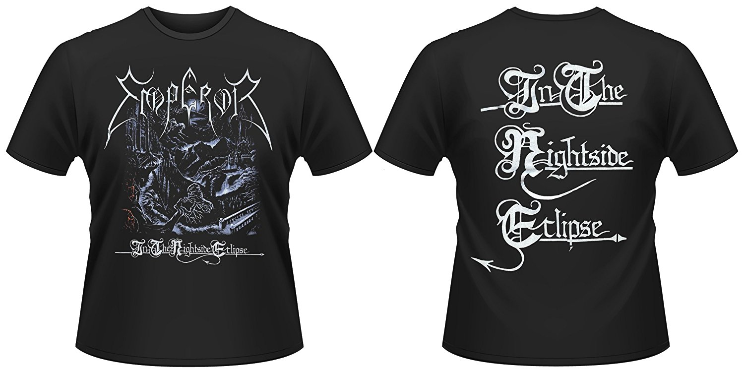 100% Official Merchandise Emperor In The Nightside Eclipse T-Shirt (S - 3XL) Print T Shirt Mens Short Sleeve Hot Top Tee