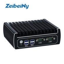 Fanless mini pc intel core i3 6100u CPU dual lan dual com nano itx desktop computer support M.2 port 6 USB3.0  12V