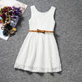 Sleeveless Baby Girl Princess Dress,Lace Dress Girl,Cute Kids Dresses for Girls,Pink Purple White Red Girls Dresses Summer 2016