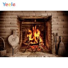 Yeele Fireplace Nice Red Brick Warm Strong Vitality Photography Backdrops Personalized Photographic Backgrounds For Photo Studio